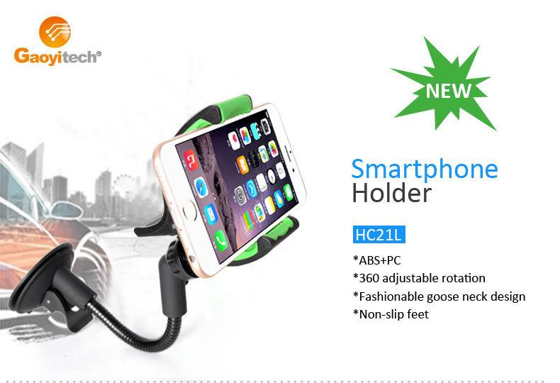 High Quality Rubberized Finish and Unique Gooseneck Design Universal smartphone car holder (HC21L)