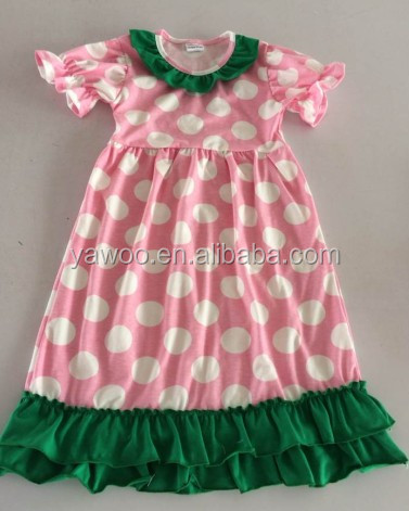 children baby girls toddlers cotton summer short sleeve dresses wear polka dots wholesale toddlers dress knited cotton dress