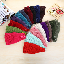 Fashionable women knitting wool flower headband wholesale