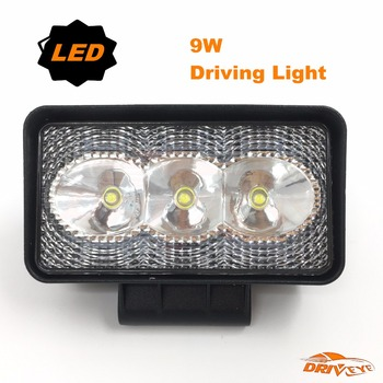 "Driveye auto spare parts Light Source 4"" inch 9W LED work Light Flood Beam Spot Beam for Truck Trailer SUV Boat"