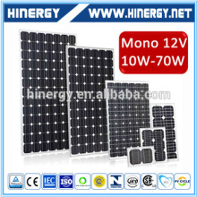 Monocrystalline Photovoltaic Cell Solar Panels 50 Watt 50wp 50w 80w 100wp 160watt For Solar Lighting System