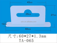 60mm transparent plastic custom hooks and hangers for packaging