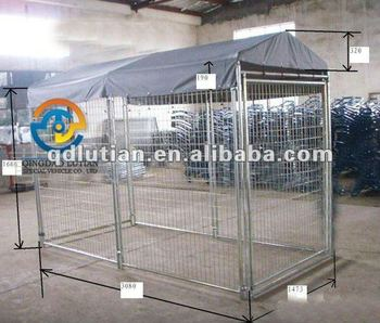dog cage, double dog cage, expanded metal dog cage