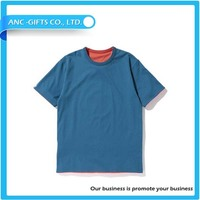 100% high quality men's reversible t-shirt blank round neck with custom design printing