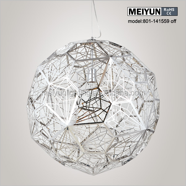 etch web stainless steel pendant lamp