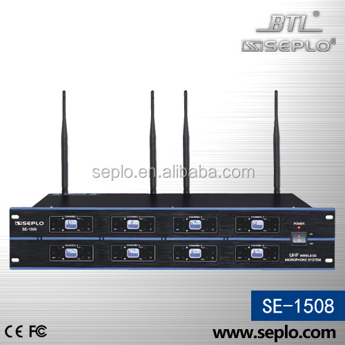 PLL 8 channel speaker system /Professional Wireless Conference Microphone System SE-1508