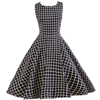 customize plaid gingham bohemian clothing women bridal wedding party vintage dress