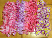 Fabric Flower Ombre Leis