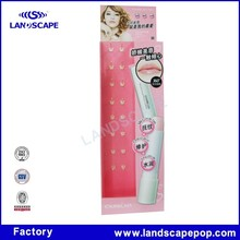 Competitive price&pink stand up pouches display for Lipstick Display