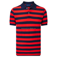 Men New Fashion Stripe Brand Pique Camouflage Polo T Shirt