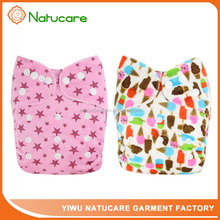 Best Selling Resuable Custom Easy to Use Nappy Wholesale Cloth Baby Diaper