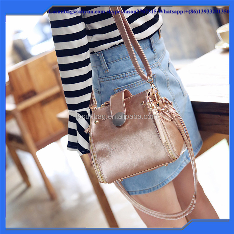 High Quality Cheap Cute Girls durable Hand bag Fashion PU shoulder Bag with double strap