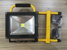 Outdoor waterproof 12v 10W-50W Rechargeable Portable LED Flood Light