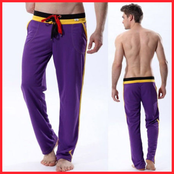 Wholesale Design Knitted Woolen Open Crotch Sport Pants