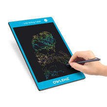 9.7 Inch Colorful LCD Writing Tablet Message Drawing Board Children Graffiti Office Writing Blackboard - Blue