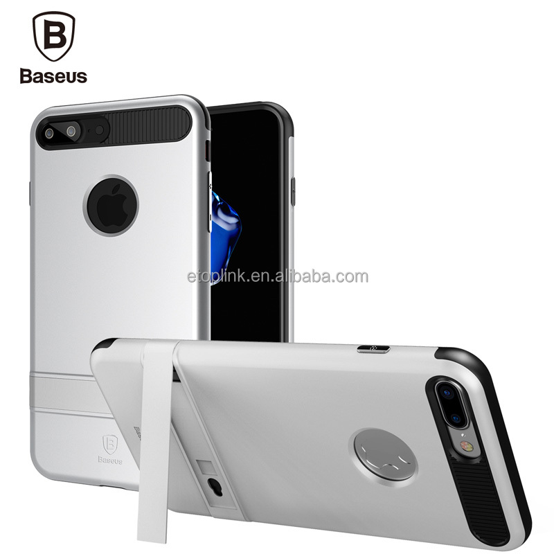 Baseus iBracket Kickstand Case For iPhone 7 Plus Magnetic Holder Phone Cases PC+TPU 60 Degree Rack Stand Cover For iPhone 7 5.5