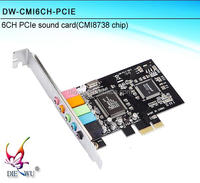 Hot sale Smart CMI8738 6 channel mini pcie sound card pci express sound card creative