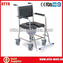 stainless steel commode shower chair