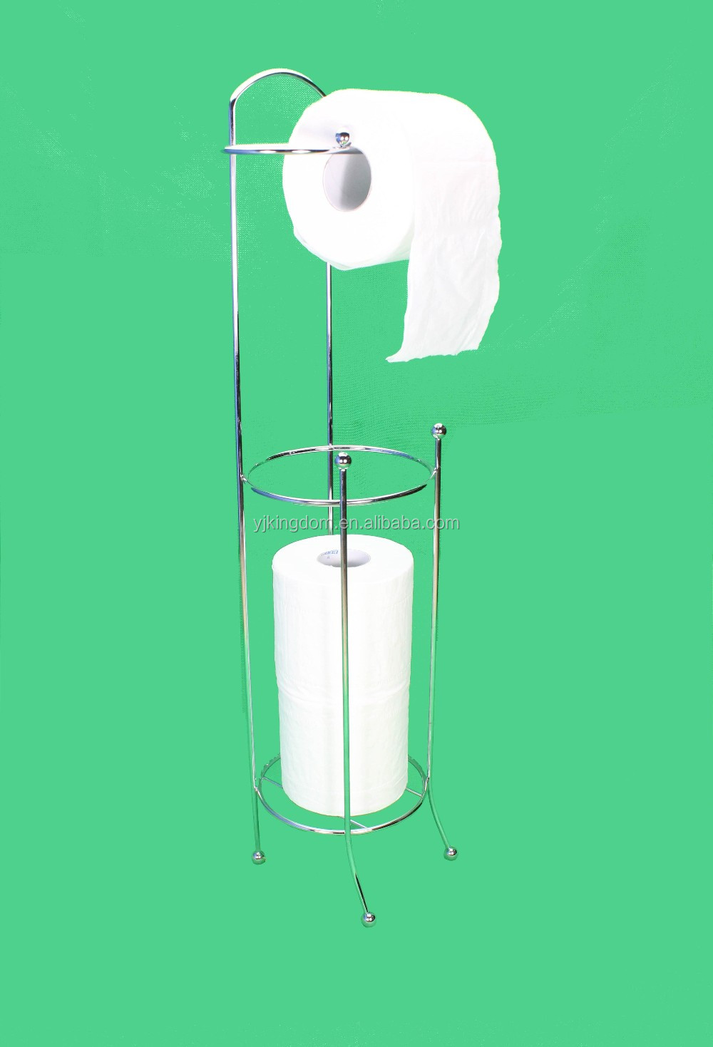 Chrome plate metal wire toilet roll tissue paper holder