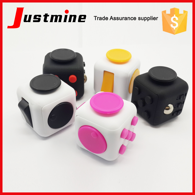 Relieve Anxiety And Stress Toy Fidget Cube Desk Dice Spin Toy Fidget Cube Toys For Adults