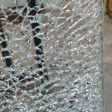 Hot sale 6mm-12mm decorative broken glass table as your demand