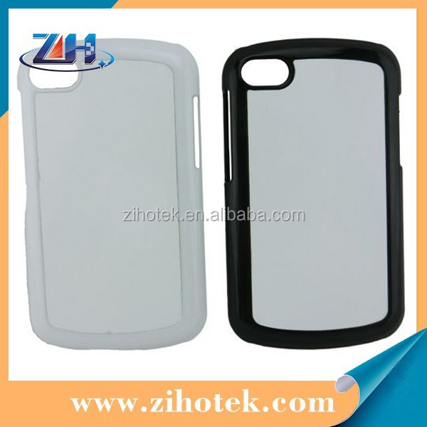 2d sublimation case for Blackberry Q10 with PC+Aluminum Sheet