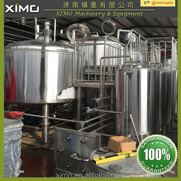 Brewery Machine 500l Mini Beer Factory Brewery Plant 3000l
