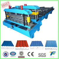 most popular and roof use hydraulic 760 type metal or circular arc glazed tile roll forming machine