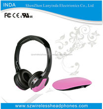 Wireless Communication and Headband adjusting headphones with built in fm radio IN608