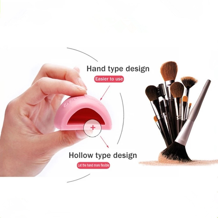 2019 new style cosmetic tool washing silicone cleaning brush egg for personal care