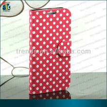 White Dots Stand-up design wallet Leather case for Samsung Galaxy S4