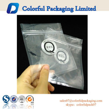 2015 Ziplock closure plastic bag for sunglasses / documents with logo printing