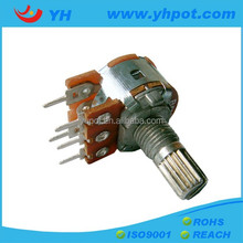 16mm 100k rotary remote control potentiometer with switch