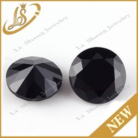 Factory wholesale Machine cut black nano gems stones