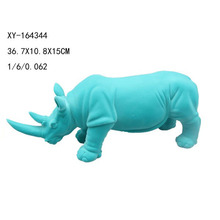 Resin flocking animal rhinoceros statue for wholesale