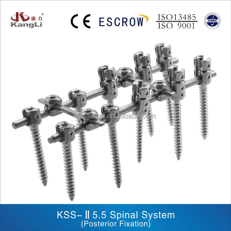 spine titanium posterior fixation orthopedic implants