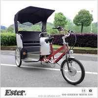 ESTER Electric Cycle passenger Rickshaw wheels with Pedal Assist