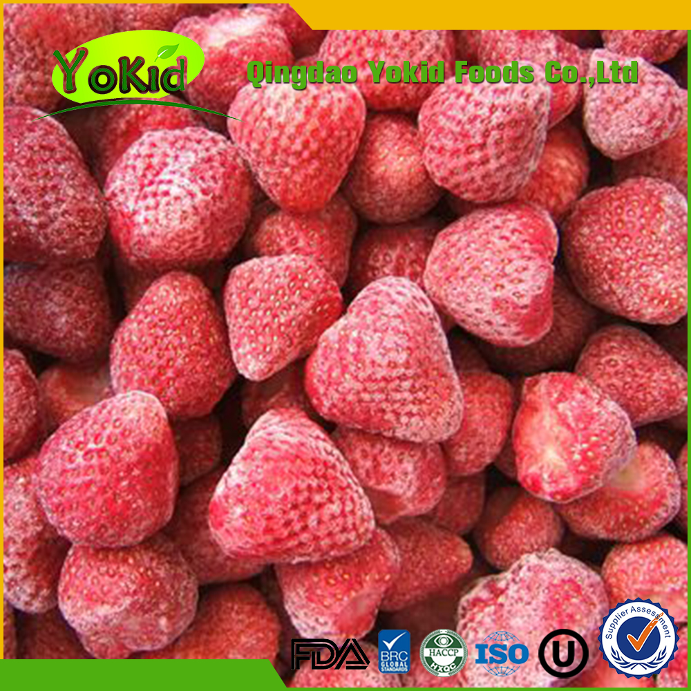 Passed ISO 22000 All Speficications Juicy Iqf Strawberry