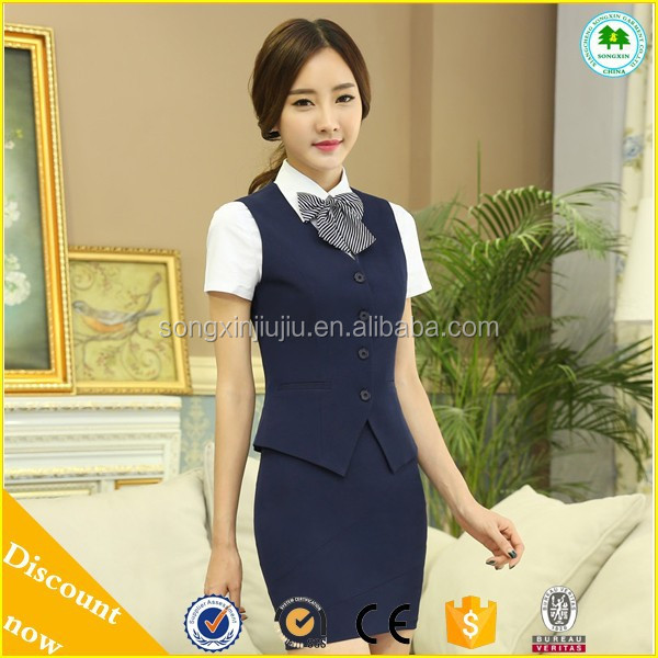 2015 New Style Hotel and Resaurant Front Office Uniform , Work Clothes for women