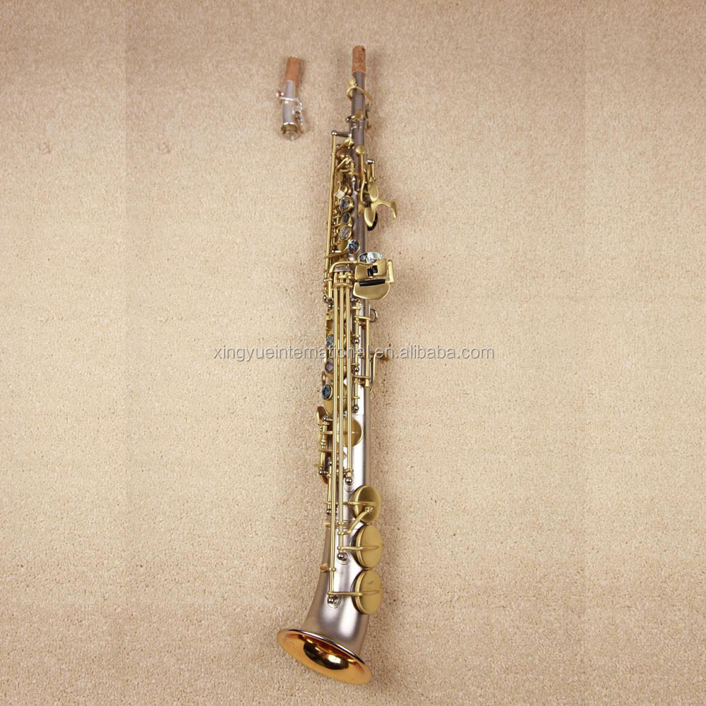 high grade semi curved bell soprano saxophone