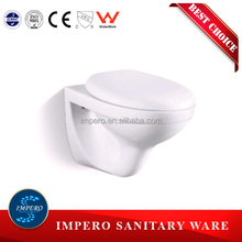 Middle east design wall mounted toilet bowl, wall hung toilet price from Chaozhou Manufacturer