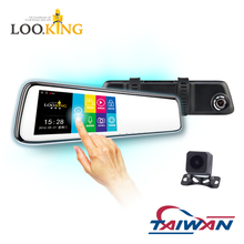 Loo.king Dual Lens Car Camera with Sony Sensor Rear View Reverse Mirror Backup Camera 1080P Full HD Dash Cam Car Recorder DVR