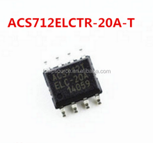Original ACS712ELCTR-20A-T Hall effect linear Current sensor IC ACS712 20A SOP8