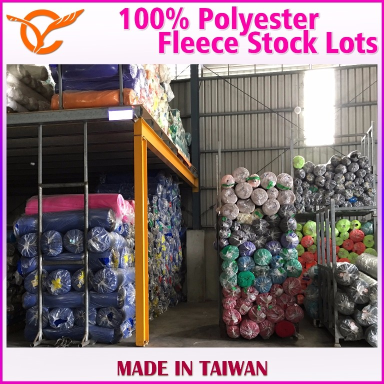 Taiwan 100% Polyester Fleece For Sports Wear Textile In Stock