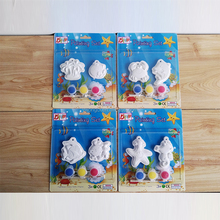educational 3D DIY painted handprint plaster set kids drawing toys