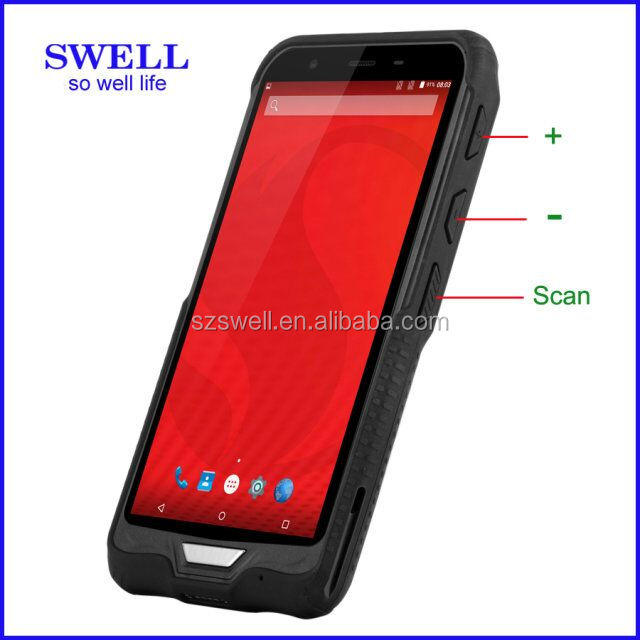 Rugged Smartphone Mobiles 2D Barcode Scanner,Smartphone RFID NFC Rugged Android PDA uhf vhf phone window10