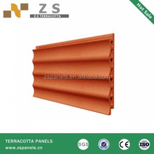 Glazed finish clay Terracotta wall covering tiles ,constructed terracotta wall plate tiles,terracotta facade panel for exterior