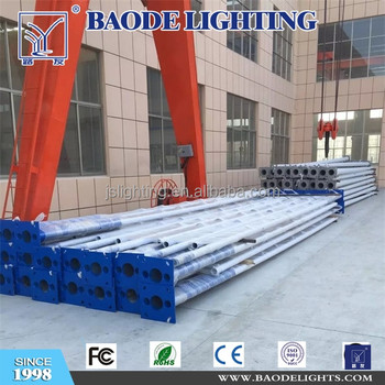 9M12M New design galvanized steel light post with led street lamp pole