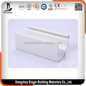Low price pvc rectangular gutter price, hot sale rain gutter fittings