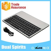 DS8700 With Slot Stand Aluminum Metal Bluetooth Keyboard Cover For Ipad Air